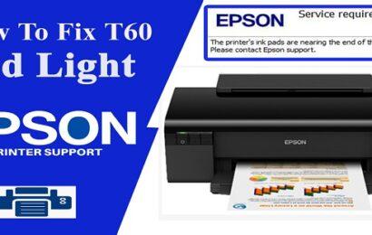 Reset Epson T60