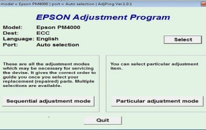 Epson PM-4000PX Resetter Adjustment Program Tool