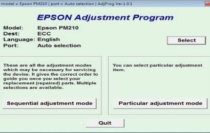 Epson PM 210 Resetter Adjustment Program Tool
