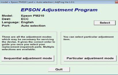 Epson PM 210 Resetter Adjustment Program Tool