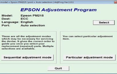 Epson PM 215 Resetter Adjustment Program Tool