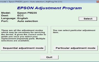 Epson PM 235 Resetter Adjustment Program Tool