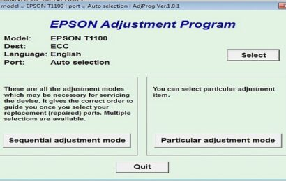 Epson T1100 Resetter Adjustment Program Tool