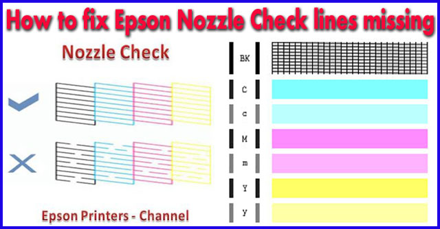 Epson Nozzle Check lines missing